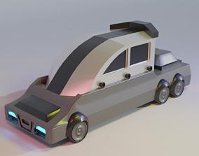 Futuristic Electric Car 3D Model For 3D Printing 2
