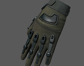 Gloves military combat soldier armor 3D model