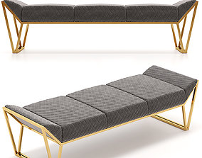 Luxxu Prisma Ottoman Luxury Bench 3D model