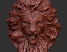 sculptures Lion Head 3D printable model