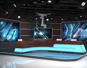 Virtual TV Studio 06 3D model