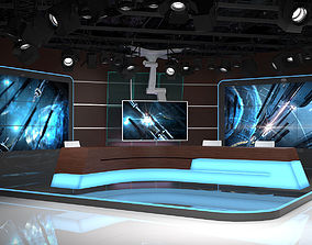 Virtual TV Studio 06 3D model