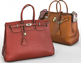 Hermes Birkin Handbags fashion 3D model