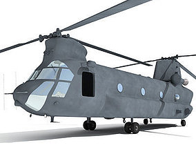 Military Chinook Helicopter 3D