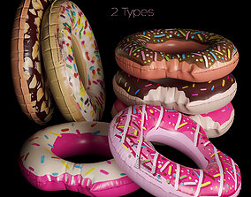 3D model Inflatable Swimming Ring Donut Intex