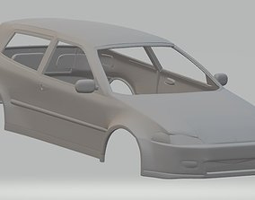 Honda Civic 1992 Printable Body Car shell