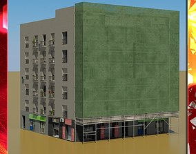3D cityscape Building
