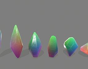 crystal set gem 3D model game-ready