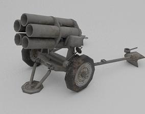 21 Cm Nebelwerfer 42 Rocket artillery 3D model