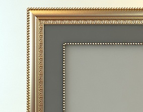 Rectangular Picture Frame and Mat 3D model
