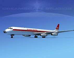 3D model Douglas DC-8-63F Richards Aviation