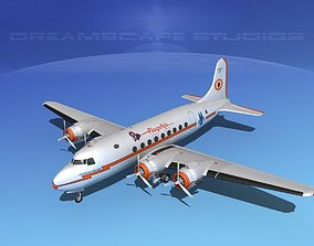 Douglas DC-4 American Airlines 3D