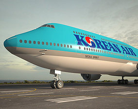 3D Boeing 747-8I Korean Air