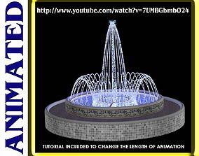 3D Animated Spray Ring Fountain