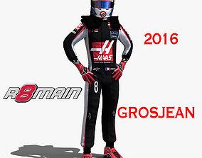 Romain Grosjean 2016 3D asset