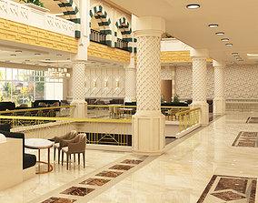 Neo arabic hotel lobby 3D model
