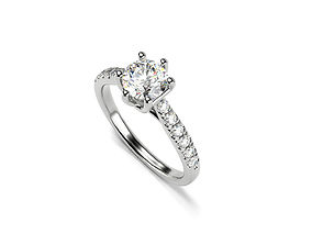 3D print model Solitaire Ring With Gems