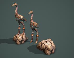 Statue heron 3D model