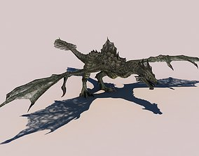 Dragon 3D model rigged creature