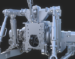 Parts from Tractor Hardsurface 3D