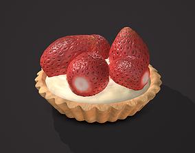 3D model Simple Strawberry Tart