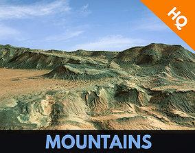 3D asset Mountains Terrain Surface Landscape Environemnt 1