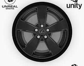 3D asset Wheel Steel-Chrome Dark Alloy Rim Lexus 19 inch 2