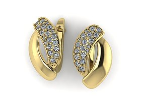 jewelry Earrings 3D printable model