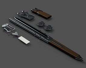 3D printable model Talion Sword belt parts and Scabbards 3