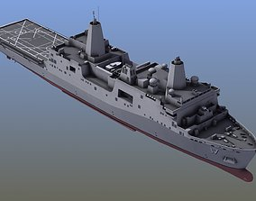 San Antonio LPD Assault Ship antonio 3D model