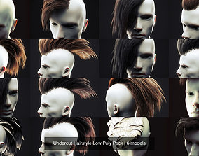 Undercut Hairstyle Low Poly Pack 3D