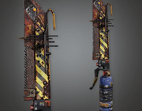 3D asset Post Apocalyptic Blade - PAM - PBR Game Ready
