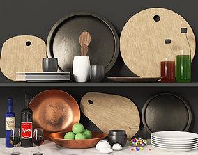 fork 3D model Kitchen set