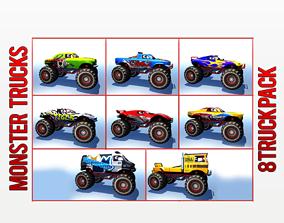 3D asset Monster Truck Pack