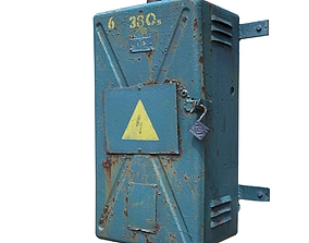 Electrical switch scan 8 3D asset