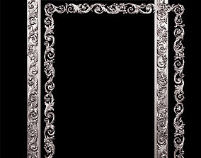 3D model Classic style carved frame pilaster