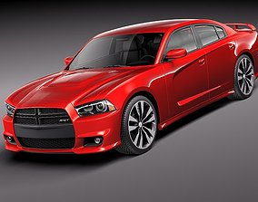 3D model srt-8 Dodge Charger SRT8 2012