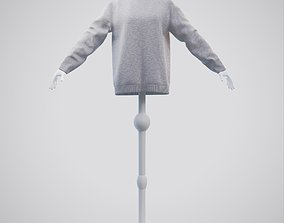Turtleneck knit sweater - Female mannequin and 3D
