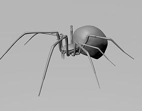 poisonous Black widow spider 3d model