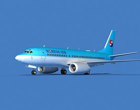 Boeing 737 MAX 7 Korean Air 3D
