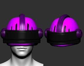 amored helmet high poly sculpt 3d printable