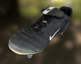 game-ready Soccer shoe low poly 3D model
