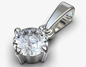3D print model Classic diamond pendant circle 6mm
