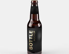 3D Long Neck Soda Pop Beer Bottle 12 oz