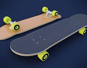 3D model PBR Skateboard