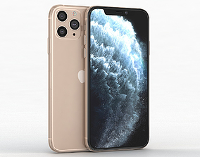 3D model Apple iPhone 11 Pro Gold