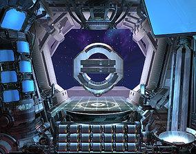 3D model Mechanical login interface 01