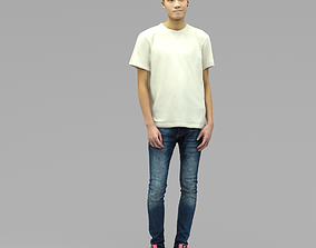 A Handsome Man Standing Alone 3D model