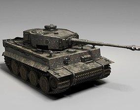 3D German Tiger Tank