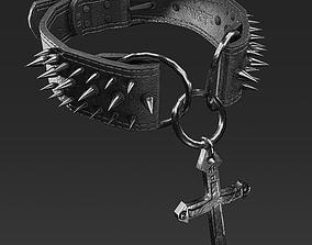 3D asset Spiked Collar